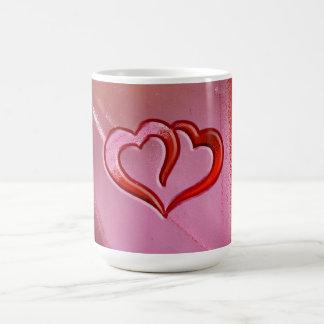 Buntglas-Herzen Kaffeetasse
