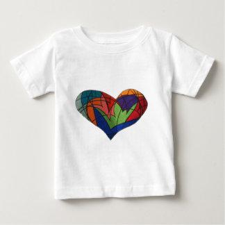 Buntglas-Herzlogo Baby T-shirt