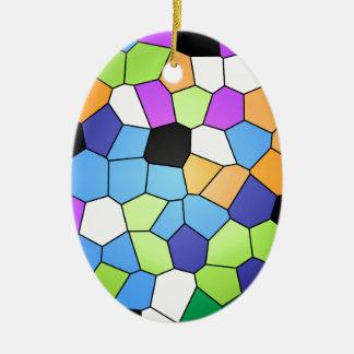 Buntglas Keramik Ornament
