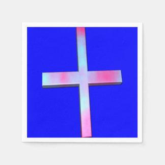 Buntglas-Kreuz Papierservietten
