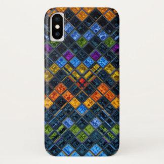 Buntglas-Mosaik-Muster iPhone X Hülle