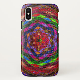Buntglas-Muster iPhone X Hülle