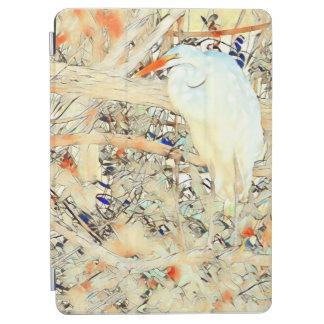 Buntglas-Reiher iPad Air Cover
