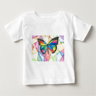 Buntglas-Schmetterling Baby T-shirt