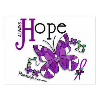 Buntglas-SchmetterlingFibromyalgia Postkarte
