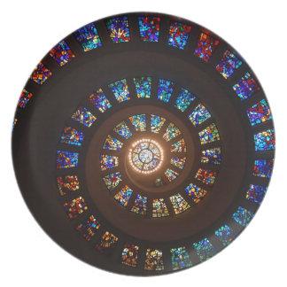 Buntglas-Spirale Teller