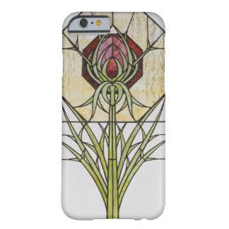 Buntglas-stilisierte Distel-geometrische Formen Barely There iPhone 6 Hülle