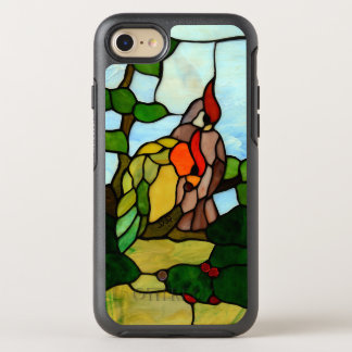 Buntglas-Vögel OtterBox Symmetry iPhone 8/7 Hülle