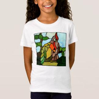 Buntglas-Vögel T-Shirt