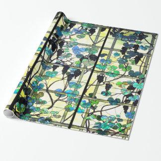 Buntglas-Weinstock-Packpapier Einpackpapier