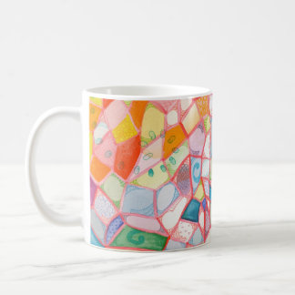 Buntglas zentangle kaffeetasse