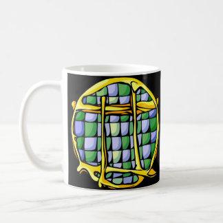 Buntglas-Zwillinge Kaffeetasse