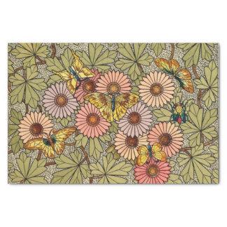 Buntglasartmosaikblumenschmetterlingskunst Seidenpapier