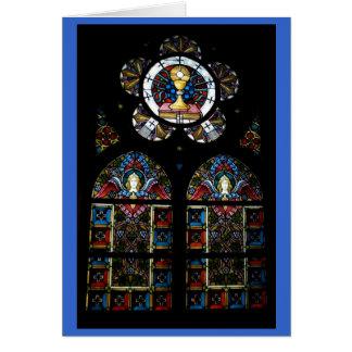 Buntglasfenster des gesegneten Sakraments und des Karte