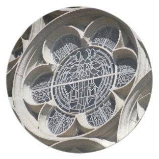 Buntglasfenster Flacher Teller