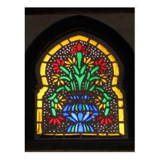 Buntglasfenster Moschee von Suleyman Aga Postkarte
