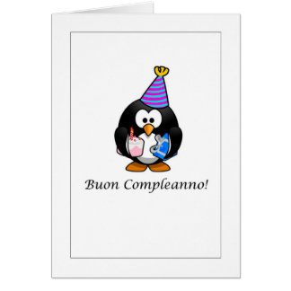 Buon Compleanno - alles Gute zum Geburtstag in der Karte