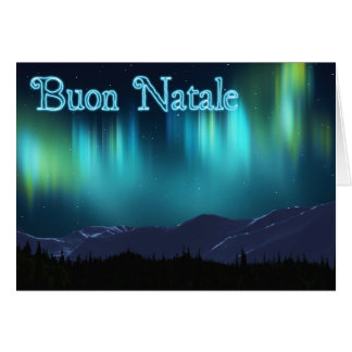 Buon Natale - Aurora Borealis Karte