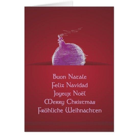 Buon Natale Feliz Navidad Joyeux Noël Karte