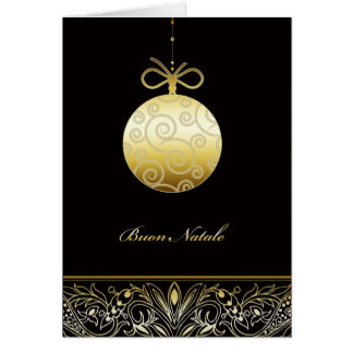 Buon Natale, frohe Weihnachten auf italienisch, Karte