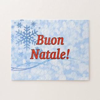 Buon Natale! Frohe Weihnachten in italienischem Rf Puzzle