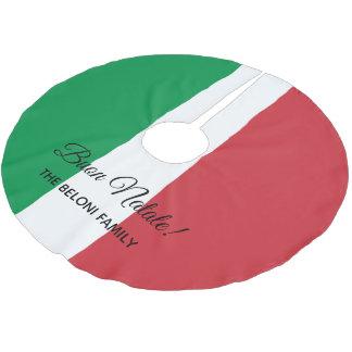 Buon Natale italienischer Flagge Polyester Weihnachtsbaumdecke
