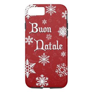 Buon Natale italienischer Weihnachtstelefon-Kasten iPhone 8/7 Hülle