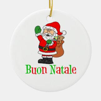 Buon Natale Sankt Verzierung Keramik Ornament