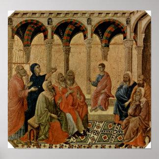 Buoninsegna - zwölf Jährige Jesus im Tempel Poster