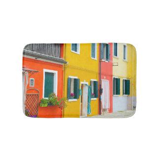 Burano Italien Gebäude Badematte