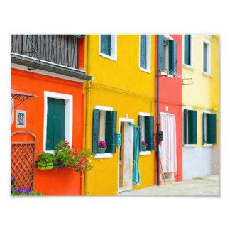 Burano Italien Gebäude Fotodruck