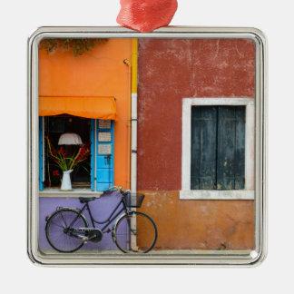 Burano Italien Gebäude nähern sich Venedig Italien Silbernes Ornament