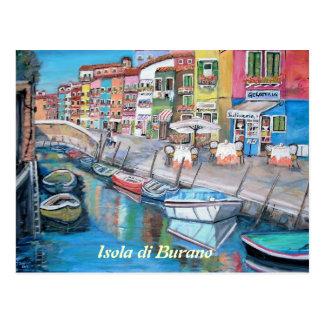 Burano, Italien - Postkarte