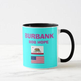 Burbank* Bob Hope Büro-Flughafen-Code-Schale Tasse