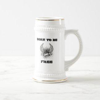 Burbank-Tasse geboren, frei   zu sein Bierkrug