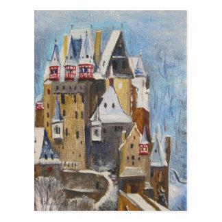 Burg Eltz Ölgemälde Postkarte