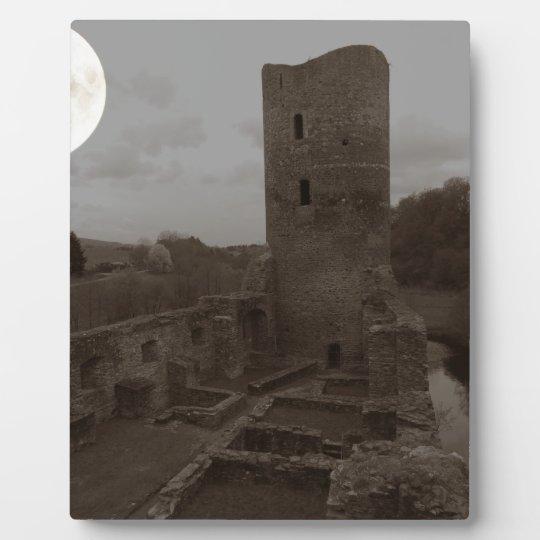 burg ruine fotoplatte