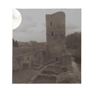 burg ruine notizblock