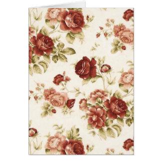 Burgendy Hintergrund des Rosenbordeaux Grußkarte