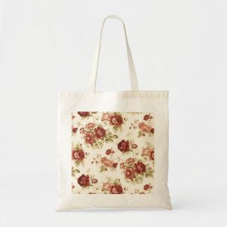 Burgendy Hintergrund des Rosenbordeaux Einkaufstaschen