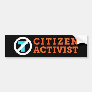 Bürger-Aktivist Anti-Trumpf Schwarz-Autoaufkleber Autoaufkleber