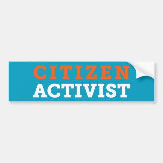 Bürger-Aktivisten-Blau-Autoaufkleber Autoaufkleber