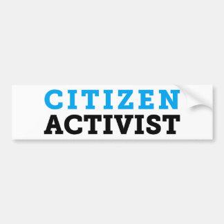 Bürger-Aktivisten-Weiß-Autoaufkleber Autoaufkleber