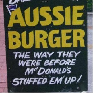 Burger Acrylausschnitte