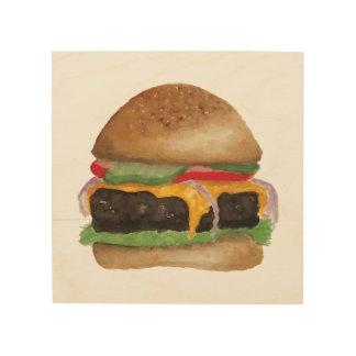 Burger-Holz-Zeichen Holzwanddeko