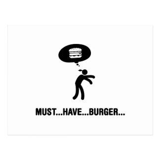 Burger-Liebhaber Postkarte