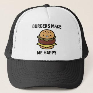 Burger machen mich glücklich truckerkappe