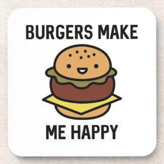 Burger machen mich glücklich untersetzer