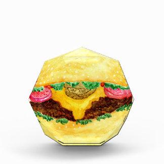 Burger-Nahrung 2 Acryl Auszeichnung
