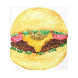 Burger-Nahrung 2 Notizblock
